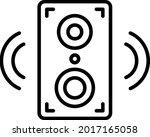 speaker vector line icon design    Shutterstock .eps vector #2017165058