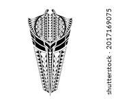 polynesian arm tattoo redrawn... | Shutterstock .eps vector #2017169075