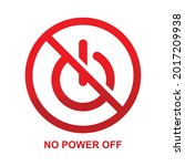 no power off sign isolated on...   Shutterstock .eps vector #2017209938