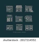 set of cafe and shops...   Shutterstock .eps vector #2017214552