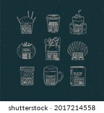set of storefront confectionary ...   Shutterstock .eps vector #2017214558