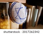 A Jewish Yarmulke With The Star ...