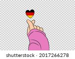 Mini Heart Sign With Germany...