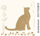 Vintage Card With Kitten Or Cat ...