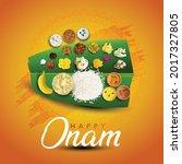 kerala festival happy onam... | Shutterstock .eps vector #2017327805