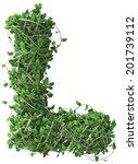 Green Alphabet Made Of Trees...