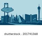 las vegas skyline | Shutterstock .eps vector #201741368