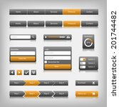 web design elements with... | Shutterstock .eps vector #201744482