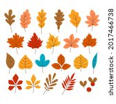 set of autumn colorful leaves....   Shutterstock .eps vector #2017466738