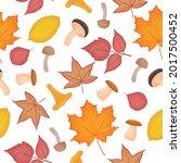bright autumn seamless pattern... | Shutterstock .eps vector #2017500452