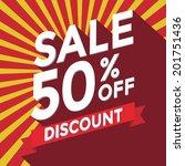 sale 50  off discount | Shutterstock .eps vector #201751436