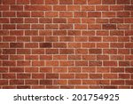 red brick wall vector background | Shutterstock .eps vector #201754925