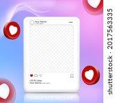 3d social media post template...   Shutterstock .eps vector #2017563335