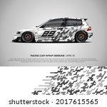 sport car wrap design vector... | Shutterstock .eps vector #2017615565