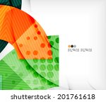 abstract geometric shapes... | Shutterstock .eps vector #201761618