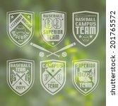 set of monochrome emblems ... | Shutterstock .eps vector #201765572