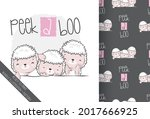 cute animal baby sheep with...   Shutterstock .eps vector #2017666925