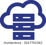 cloud hosting vector icon that... | Shutterstock .eps vector #2017701362