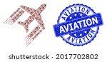 aviation corroded round stamp...   Shutterstock .eps vector #2017702802