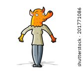 cartoon fox woman | Shutterstock .eps vector #201771086