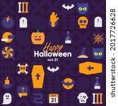 happy halloween. october 31.... | Shutterstock .eps vector #2017726628