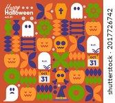 happy halloween. october 31.... | Shutterstock .eps vector #2017726742
