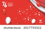 76 years of independence day... | Shutterstock .eps vector #2017753322