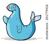 cartoon seal | Shutterstock .eps vector #201779426