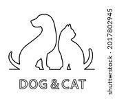 illustration logo pet shop ... | Shutterstock . vector #2017802945