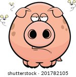 cartoon illustration of a pig... | Shutterstock .eps vector #201782105