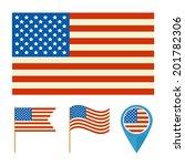 illustration of the usa flag ... | Shutterstock .eps vector #201782306
