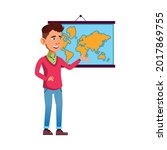 boy student answering on... | Shutterstock .eps vector #2017869755