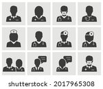 doctor and nurse icons such as... | Shutterstock .eps vector #2017965308