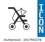grey baby stroller icon... | Shutterstock .eps vector #2017982378