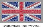 mosaic united kingdom flag... | Shutterstock .eps vector #2017999958
