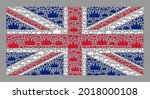 mosaic rectangle united kingdom ... | Shutterstock .eps vector #2018000108