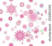 repeatable floral pattern with... | Shutterstock .eps vector #201801242