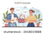 english class concept. study... | Shutterstock .eps vector #2018015888