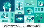 ecology icons set ... | Shutterstock .eps vector #2018019302