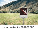 No Hunting Sign With Graphic O...