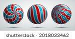 realistic glossy vector spheres ...   Shutterstock .eps vector #2018033462
