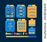 funny modern casual game ui kit ...