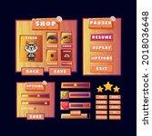 game ui old wooden kit menu pop ...