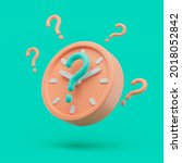 circle clock icon with question ...