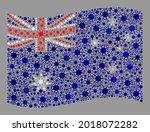 waving mosaic australia flag...   Shutterstock .eps vector #2018072282