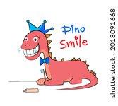 little prince dinosaur... | Shutterstock .eps vector #2018091668