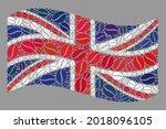 mosaic waving united kingdom... | Shutterstock .eps vector #2018096105