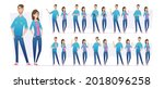 people in jeans. male and...   Shutterstock .eps vector #2018096258