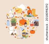 vector illustration autumn...   Shutterstock .eps vector #2018098292