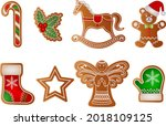 set of isolated christmas...   Shutterstock .eps vector #2018109125